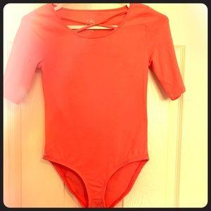 3/30$ Bright pink bodysuit/leotard